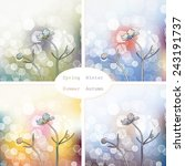 abstract picture with flowers... | Shutterstock .eps vector #243191737