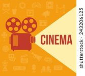 cinema retro projector... | Shutterstock .eps vector #243206125
