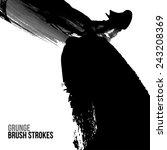 brush stroke and texture.... | Shutterstock .eps vector #243208369