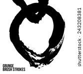 brush stroke and texture.... | Shutterstock .eps vector #243208381