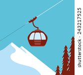 Ski Lift Gondola Snow Mountains