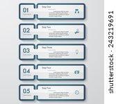 design clean number banners... | Shutterstock .eps vector #243219691