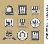 vintage beer labels  design... | Shutterstock .eps vector #243221317