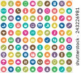 100 accessories icons big... | Shutterstock .eps vector #243226981