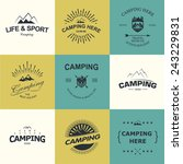 set of retro badges and label... | Shutterstock .eps vector #243229831