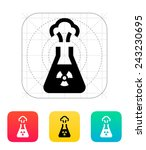 flask with radiation icon on... | Shutterstock .eps vector #243230695