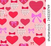 gentle pink seamless background ... | Shutterstock .eps vector #243233749