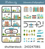elements of the modern city.... | Shutterstock .eps vector #243247081