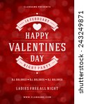 happy valentines day party... | Shutterstock .eps vector #243249871