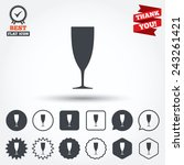glass of champagne sign icon.... | Shutterstock .eps vector #243261421
