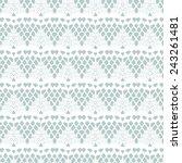 lace white seamless mesh... | Shutterstock .eps vector #243261481