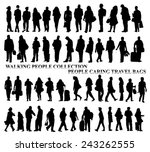 silhouettes of walking people ... | Shutterstock .eps vector #243262555
