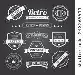 retro vintage insignias or... | Shutterstock .eps vector #243269911