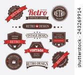 retro vintage insignias or... | Shutterstock .eps vector #243269914