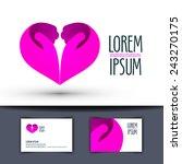 heart vector logo design... | Shutterstock .eps vector #243270175