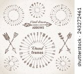 ethnic arrows  round frames and ... | Shutterstock .eps vector #243272461