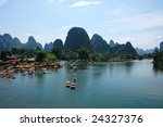 Li River And Mountains  Guilin  ...