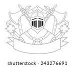 medieval knight logo. helmet ... | Shutterstock .eps vector #243276691