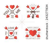 love day labels with crossed...   Shutterstock .eps vector #243277834
