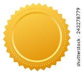 blank certificate seal | Shutterstock .eps vector #243278779