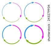 three part arrow circles | Shutterstock .eps vector #243279934