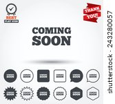 coming soon sign icon.... | Shutterstock .eps vector #243280057