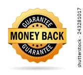 money back guarantee business... | Shutterstock .eps vector #243281017
