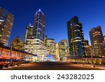 Stock photo vancouver city financial district at night vancouver british columbia canada 243282025