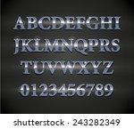 metal letters | Shutterstock .eps vector #243282349