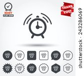 alarm clock sign icon. wake up... | Shutterstock .eps vector #243286069
