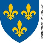 heraldic lilies of france on a...