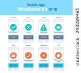 mobile app wireframe ui kit 10. ...