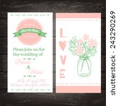 wedding invitation in vintage... | Shutterstock .eps vector #243290269