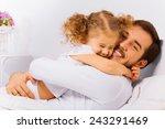 charming portrait of happy... | Shutterstock . vector #243291469