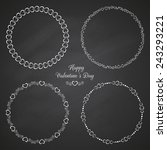 set of 4 circle cute frames for ... | Shutterstock .eps vector #243293221