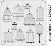set of birdcages. vector... | Shutterstock .eps vector #243293227