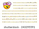 a large variety of cute...   Shutterstock .eps vector #243295591