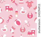 vector seamless baby  pattern | Shutterstock .eps vector #243296911