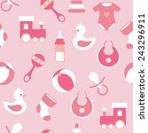 vector seamless baby  pattern | Shutterstock .eps vector #243296911
