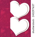 happy valentine's day greeting... | Shutterstock .eps vector #243297637
