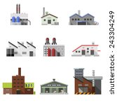 factory power electricity... | Shutterstock .eps vector #243304249