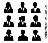 business avatars set with males ... | Shutterstock .eps vector #243305221