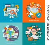 seo internet marketing design...   Shutterstock .eps vector #243305737