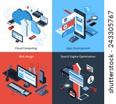 computer and web design concept ... | Shutterstock .eps vector #243305767