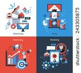 advertising marketing design... | Shutterstock .eps vector #243305875
