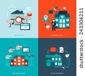 real estate design concept set... | Shutterstock .eps vector #243306211