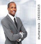 african american businessman... | Shutterstock . vector #243310315