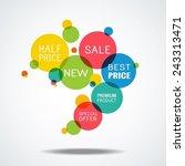 sale  best price  new  premium... | Shutterstock .eps vector #243313471