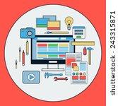 web design flat vector concept | Shutterstock .eps vector #243315871