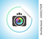 photo camera sign icon. round... | Shutterstock .eps vector #243317539